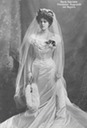 1900 Marie Gabrielle of Bavaria wearing her wedding dress