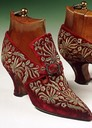 1900s (early) Embroidered velvet shoes From ppinterest.com:JuliaHit0711:the-romanovs-%7E-1613-1918: