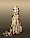 1900s Alexandra's white and floral evening dress