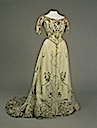 1900s Alexandra's off-white evening dress