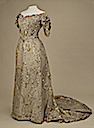 1900s Alexandra's white spangled evening dress