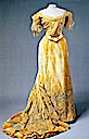 1900s Alexandra's yellow evening dress