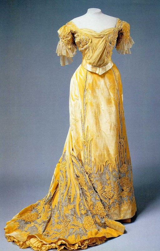 1900s Alexandra's yellow evening dress 0_ad30_3086f8fd_xl