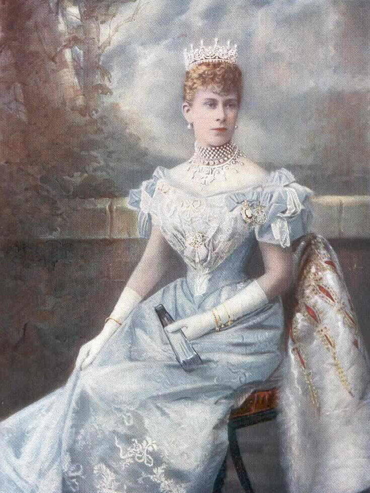 1901 Princess Mary wearing a blue evening dress by unknown (location ...