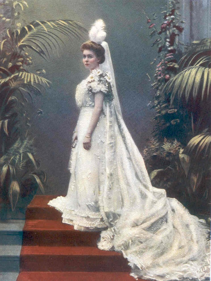 1901 (published) Margaret of Connaught in her coming out dress EB