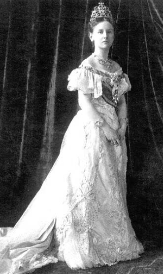 1901 Queen Wilhelmina of the Netherlands detint