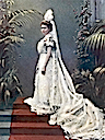 1901 (published) Margaret of Connaught in her coming out dress
