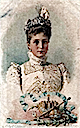 1901 Tsaritsa Alexandra in day dress