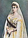 1901 Tsaritsa Alexandra in court dress