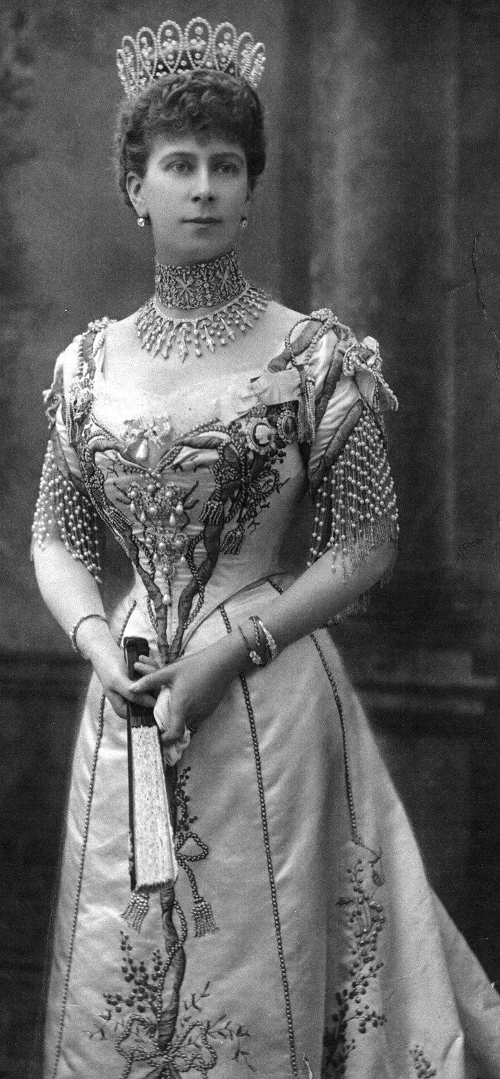 1902 Princess Mary's gown for Edward VII's coronation