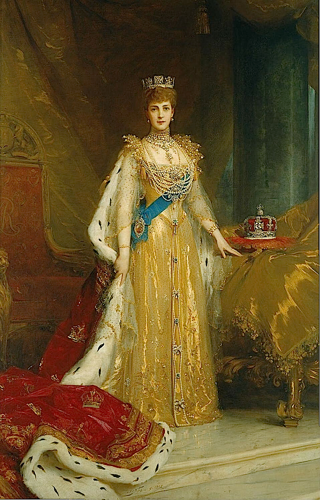 1902 Alexandra in coronation dress by ? (location unknown togogm)