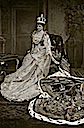 1902 Alexandra seated in her coronation dress by W. & D. Downey