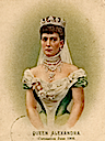 1902 Queen Alexandra color card