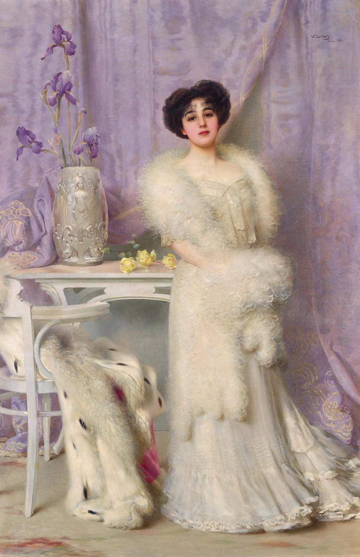 1903 Diane de la Bouchère by Vittorio Matteo Corcos (auctioned by Dorotheum) From the Dorotheum Web site