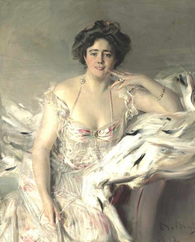 1903 Lady Nanne Schrader by  Giovanni Boldini (auctioned)