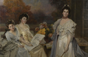 1903 Princesse de Wagram et de ses deux filles by François Flameng (auctioned by De Baecque) From the De Baecque Web site