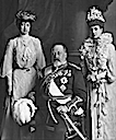 1903 Princess Victoria, Queen Alexandra, and King Edward VII