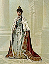 1903 Queen Alexandra portrayed in court dress