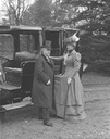 1904 Gladys de Grey stepping into a Napier car with her husband by Lafayette