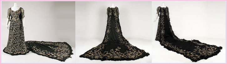 1904 Morin-Blossier court dress with full train (Metropolitan Museum of Art - New York City, New York, USA) From the museum's Web site