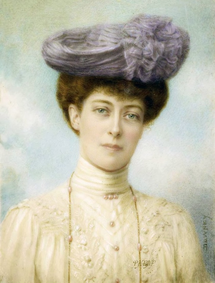 1904 Princess Victoria of Wales by William and Daniel Downey (Royal Collection) From arrayedingold.blogspot.com/2014_01_01_archive