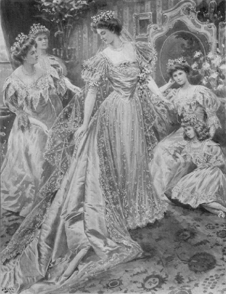 1905 Margaret Connaught Irish lace wedding dress | Grand Ladies | gogm