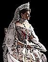 1905 Alexandra in full dress colorized image