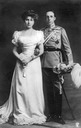 1906 King Alfonso XIII of Spain and fianceé, Princess Victoria Eugenia of Battenberg
