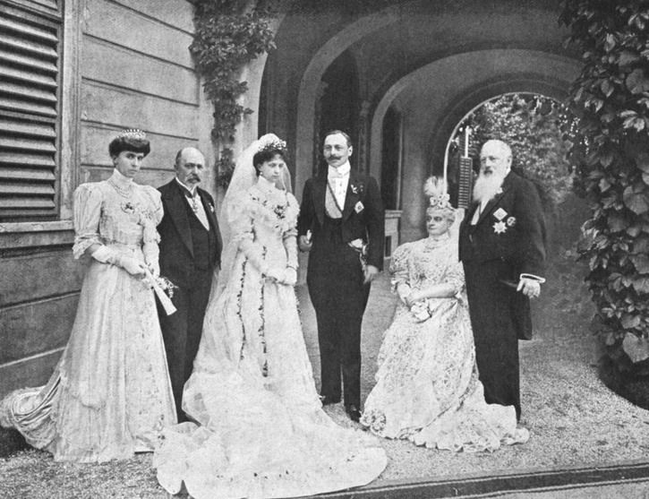 1906 Marriage of Count Pietro Pietro LucchesiPalli and Princess Beatrice of Bourbon Parma, half-sister of Empress Zita FDxcarb 10Nov11