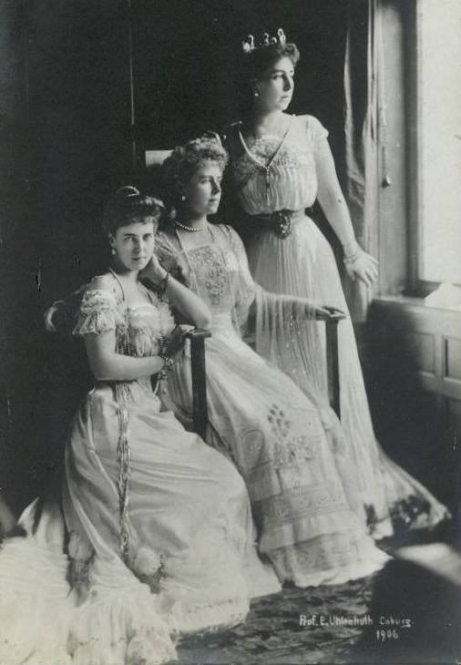 1906 Marie of Edinburgh, Princess Victoria Melita of Saxe-Coburg and Gotha, Princess Beatrice of ericab16 on Webshots