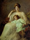 1907 Violet, Marchioness of Donegall and her son Edward by Philip Tennyson Cole (auctioned by Christie's)