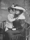 1908 Daisy, Countess of Warwick and son by Lafayette