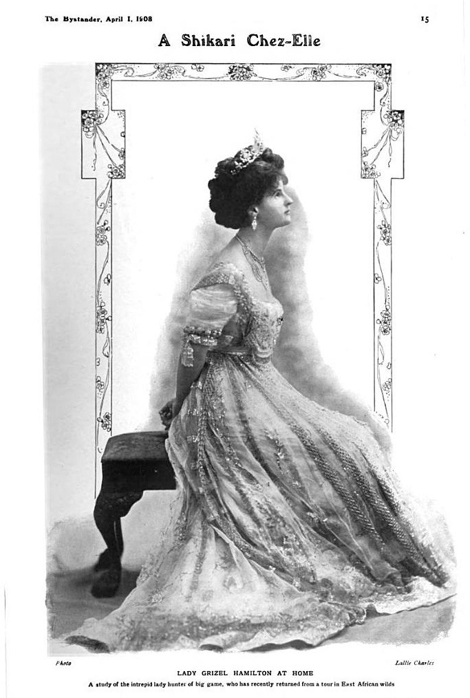 1908 Lady Grizel Hamilton from The Bystander of 1 April