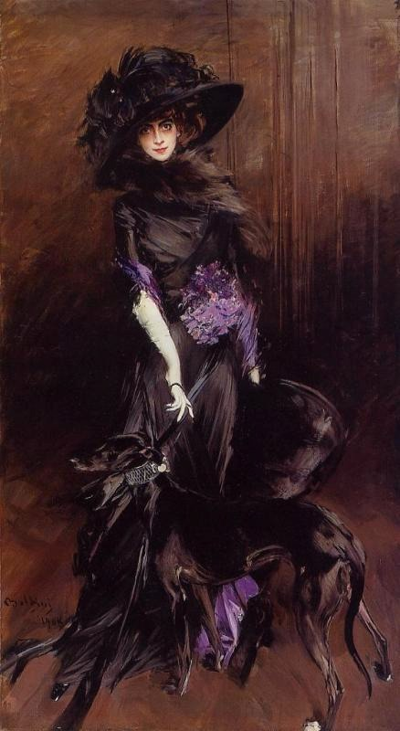 1908 Marchesa Luisa Casati with Greyhound by Boldini (private collection)