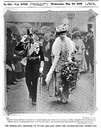1908 Prince and Princess of Wales open Franco-British exhibition from The Bystander of 20 May
