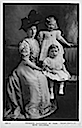 1908-1909 Princess Alice, Countess of Athlone (1883-1981) with her children May and Rupert detint