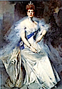 "1908 Queen Alexandra ""Blue"" portrait by François Flameng (Royal Collection)"