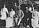 1908 Marie d'Orleans Denmark with Prince Georg and Princess Marie of Greece