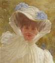 1909 Alda Weston, Lady Hoare in white by St George Hare (Stourhead - Stourton, Wiltshire UK)