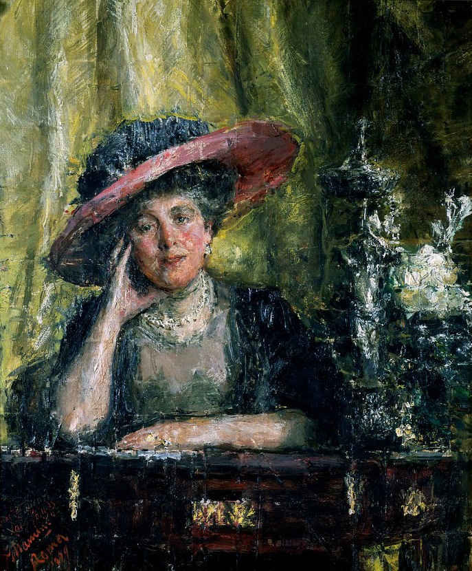 1909 Lady Florence Phillips by Antonio Mancini (Johannesburg Art Gallery - Johannesburg, Gauteng Republic of South Africa)