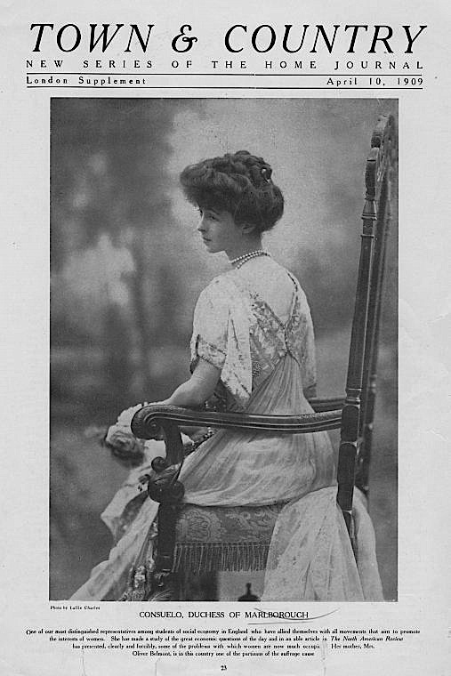 1909 Consuelo Vanderbilt photo in Town & Country | Grand ...