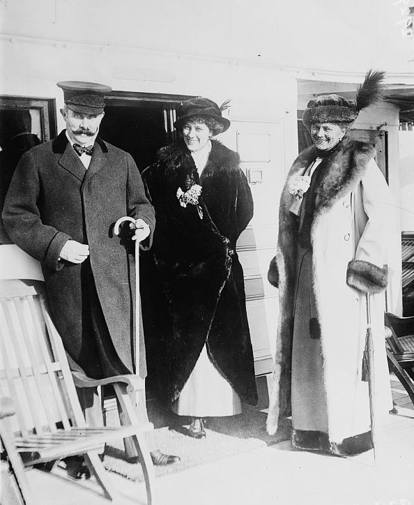 1910-1915 Franz Ferdinand of Austria and wife with Countess Baillet de Latour LC Bain cropped