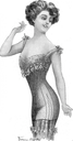 1910 Edwardian long line corset