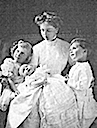 1910 Alice Albany and children