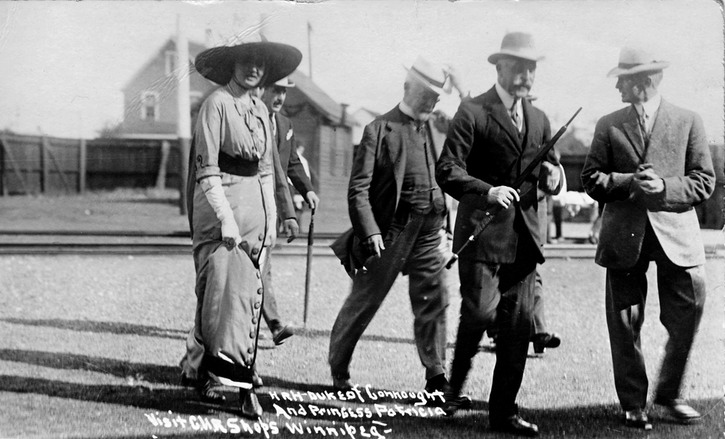 1912 HRH Duke of Connaught and Princess Patricia at Winnipeg