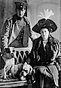 1912 Prince and Princess August Wilhelm von Preussen with dogs