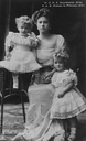 1913 B&W Princess Alice of Greece from postcard EB enlarged 1:4 detint