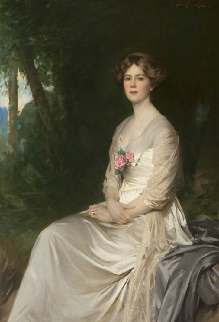 1913 Ethel Mary (1891–1970), née Bell-Irving, later 15th Countess of Lauderdale by Samuel Henry William Llewellyn (Thirlestane Castle - Lauder, Berwickshire, UK) From centuriespast.tumblr.com:post:148847411164:ethel-mary-18911970-15th-countess-of