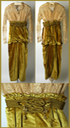 1913 Lucile silk and metal afternoon dress front (Metropolitan Museum of Art - New York City, New York, USA) From the museum's Web site