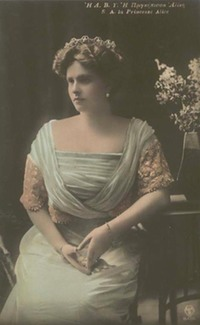 1913 Princess Alice of Greece colorized